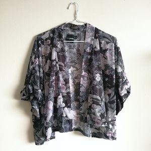 ❤️[3/$35] ASOS Petite Floral Short Sleeved Kimono